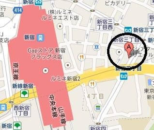 新宿3丁目会議室地図